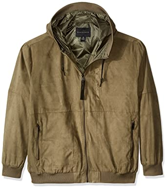 c5e4e079a77 Sean John Men s Big and Tall Suede Leather Hoodie at Amazon Men s Clothing  store