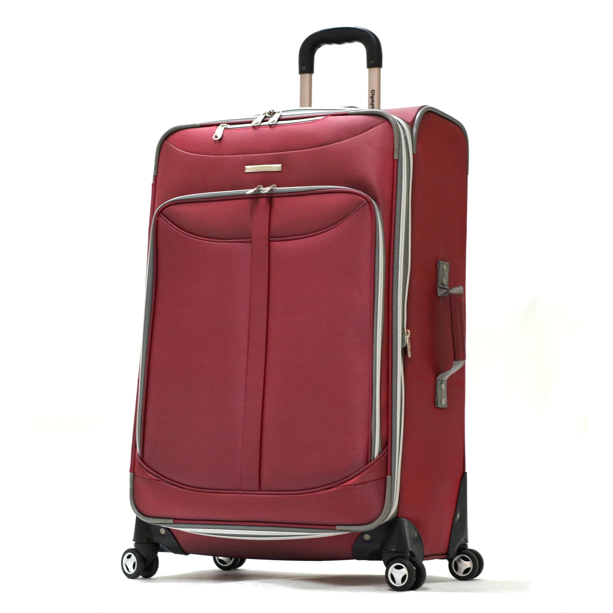 Olympia Luggage  Tuscany 30 Inch Expandable Vertical Rolling Luggage Case,Red,One Size
