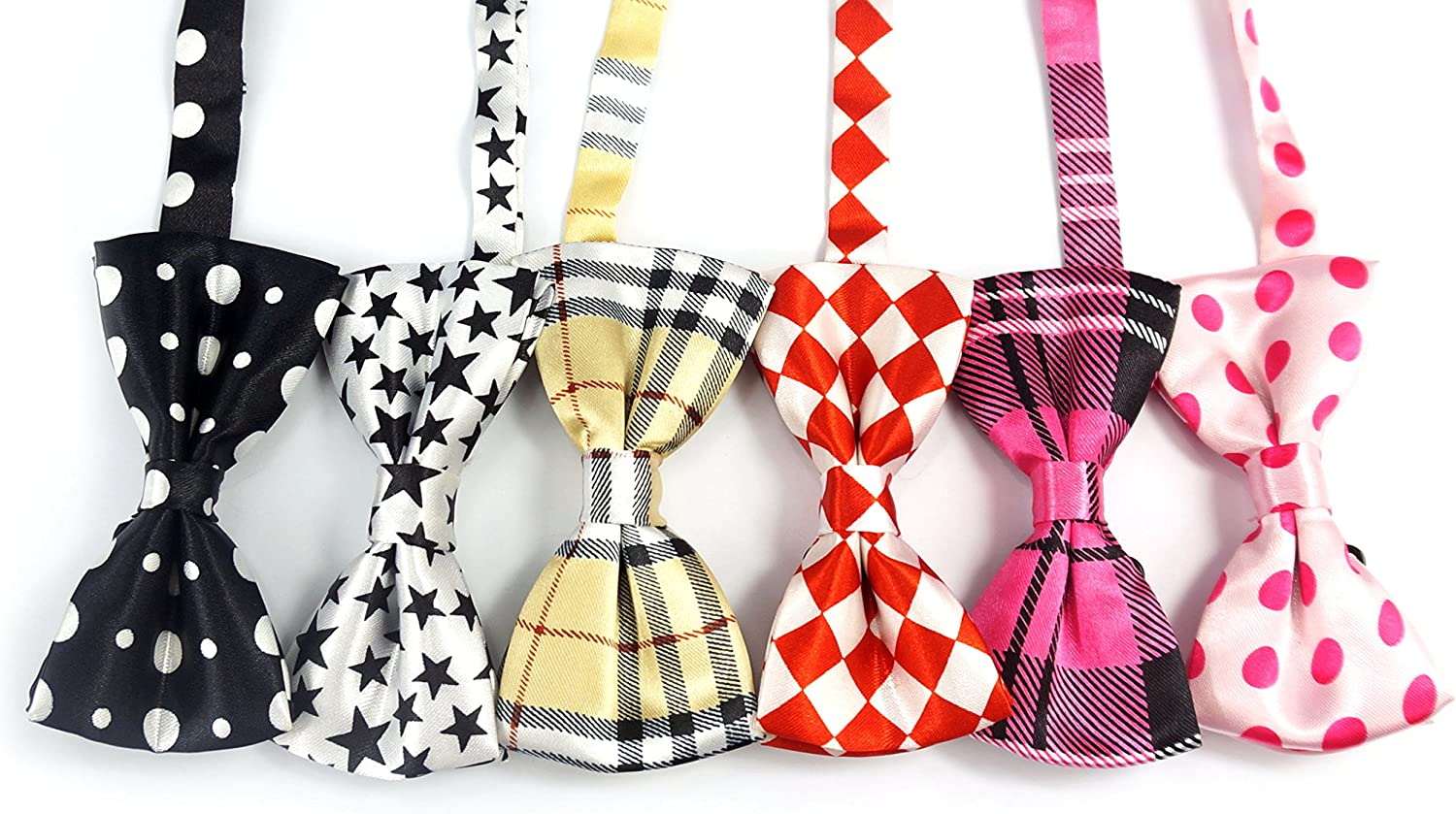 LilMents 12 Pack Boys Mixed Designs Adjustable Pre Tied Bow Necktie Tie Set