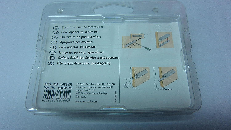 HKB 2X Push-to-Open f/ür grifflose M/öbelt/üren P2O Universal Maxi /… x 2