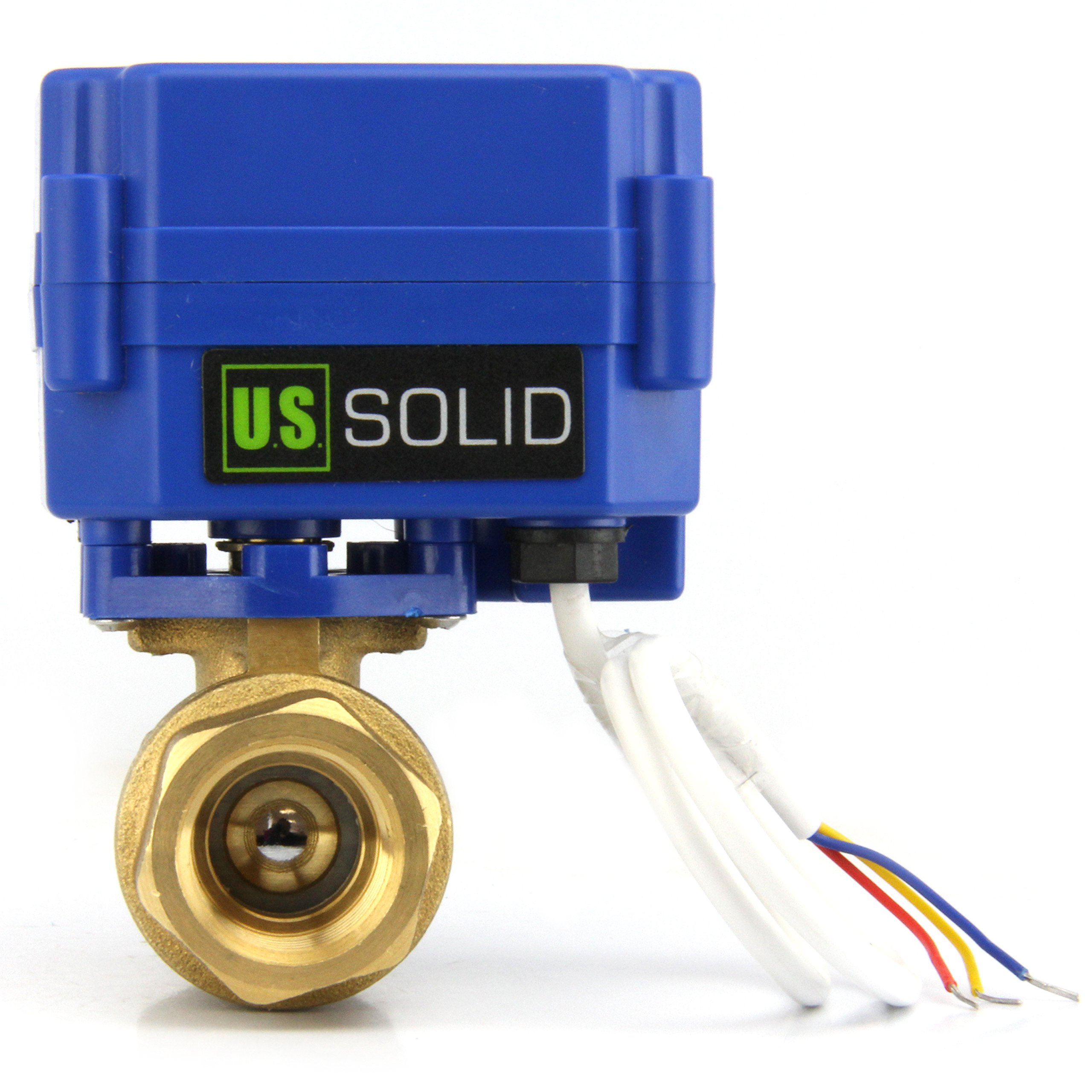 Motorized Ball Valve- 1'' Brass Electrical Ball Valve with Standard Port, 9-24V AC/DC and 3 Wire Setup by U.S. Solid …