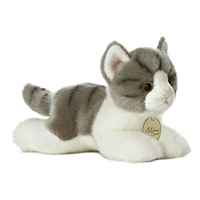 "Aurora World Aurora - Miyoni - 8"" Grey Tabby Cat, 10813, Multicolor: Toys & Games"