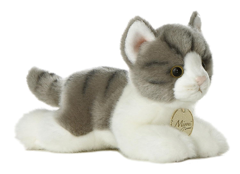 "Aurora World Miyoni Grey Tabby Cat Plush, 8"""
