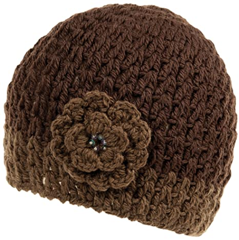 34cb82ce992 Amazon.com   Nirvanna Designs CH75 Crochet Flower Beanie