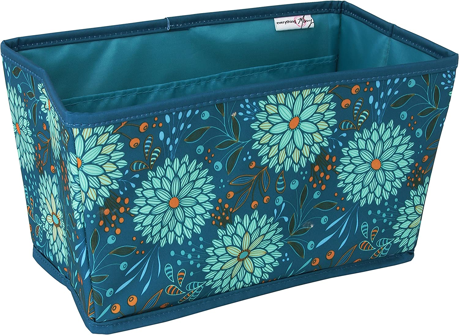 Floral Everything Mary Deluxe Yarn Carry Project Caddy Organizer Storage Tote