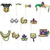Mardi Gras Costume Props 4E's Novelty + Bonus sticker