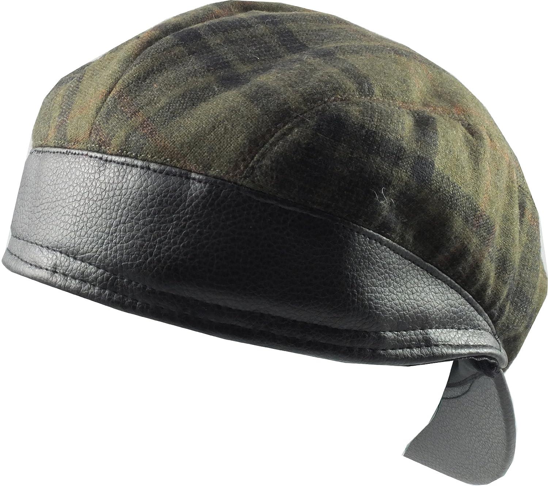Train Driver  Style Flat Cap - Green Plaid S M (57cm)  Amazon.co.uk   Clothing 1dd569df96d