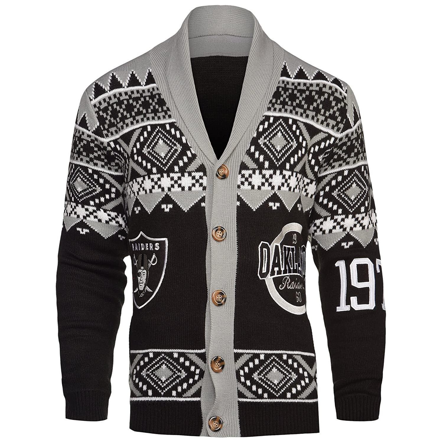 FOCO NFL Men's Cardigan