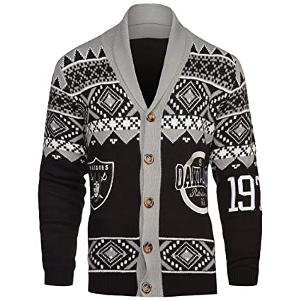 ac6a4a1b2b Oakland Raiders 2015 Ugly Cardigan Extra Large  Amazon.in  Sports ...