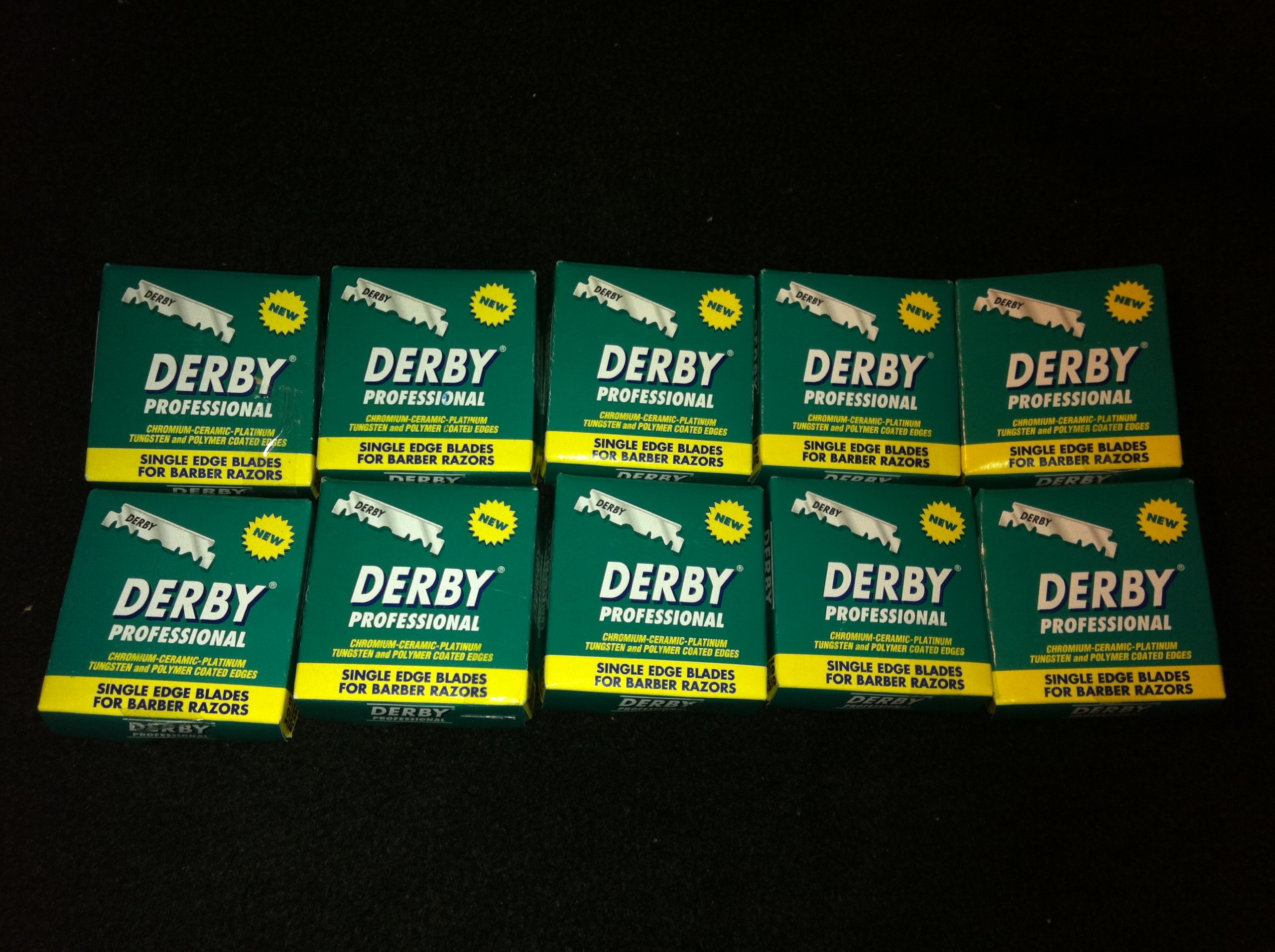 1000 ''Derby Professional'' Single Edge Razor Blades for straight razor
