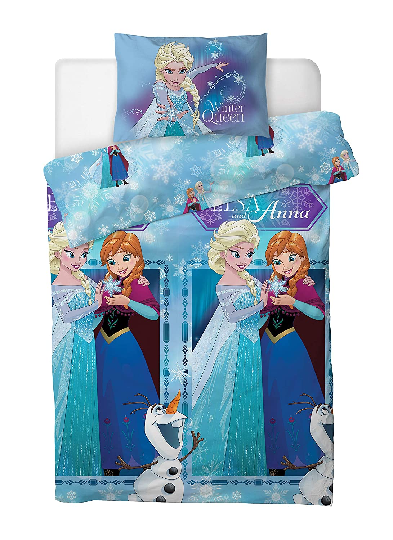 Disney Frozen Single Duvet Cover Bedding Set With Matching Pillow Case Elsa and Anna Frozen 2, SINGLE BED 135cm x 200cm