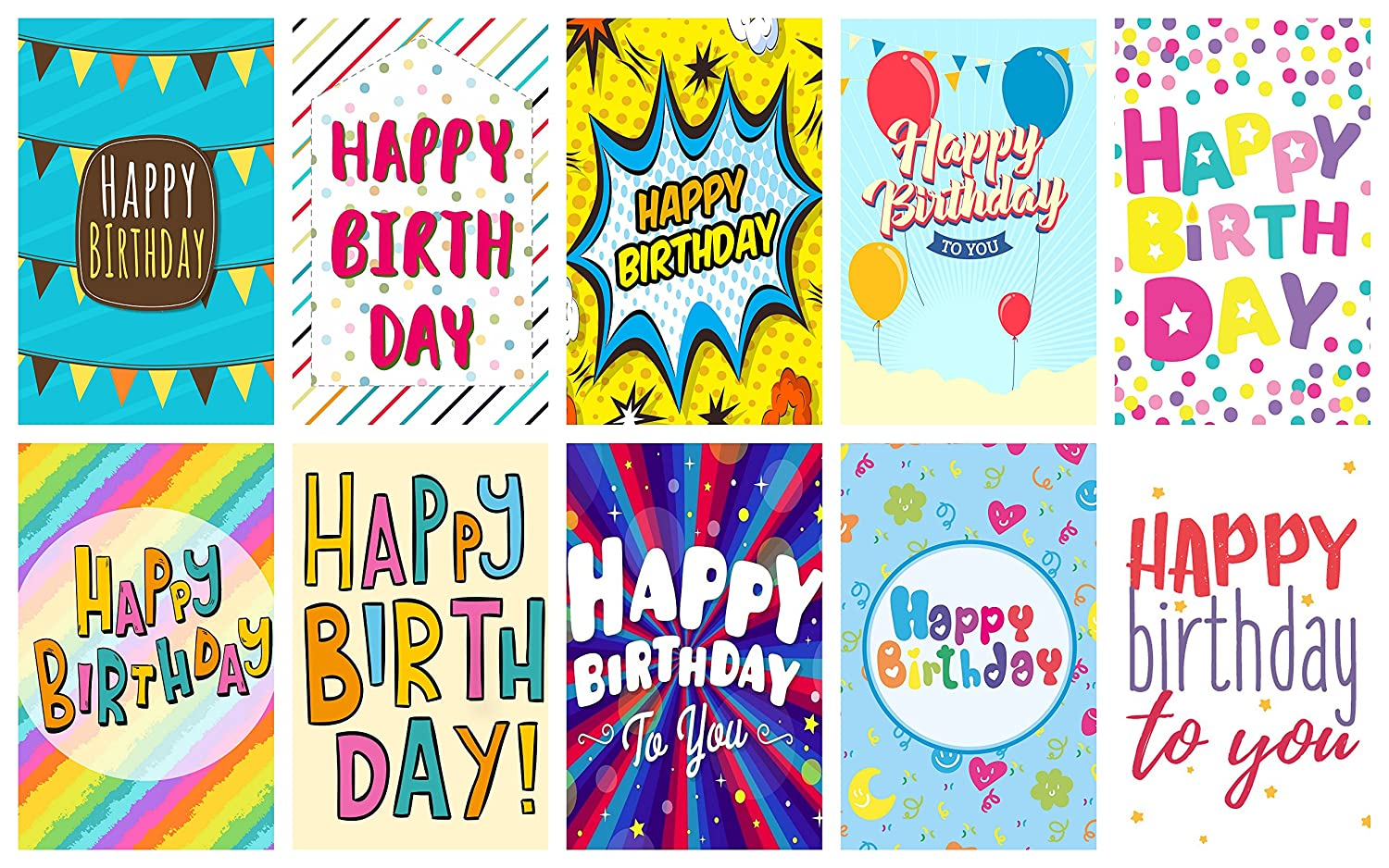 20 Words Design Birthday Cards Envelopes By Greetingles 10 Designs Made In UK
