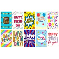 "20 ""Words"" Design Birthday Cards & Envelopes by Greetingles. 10 Designs. Made in UK"