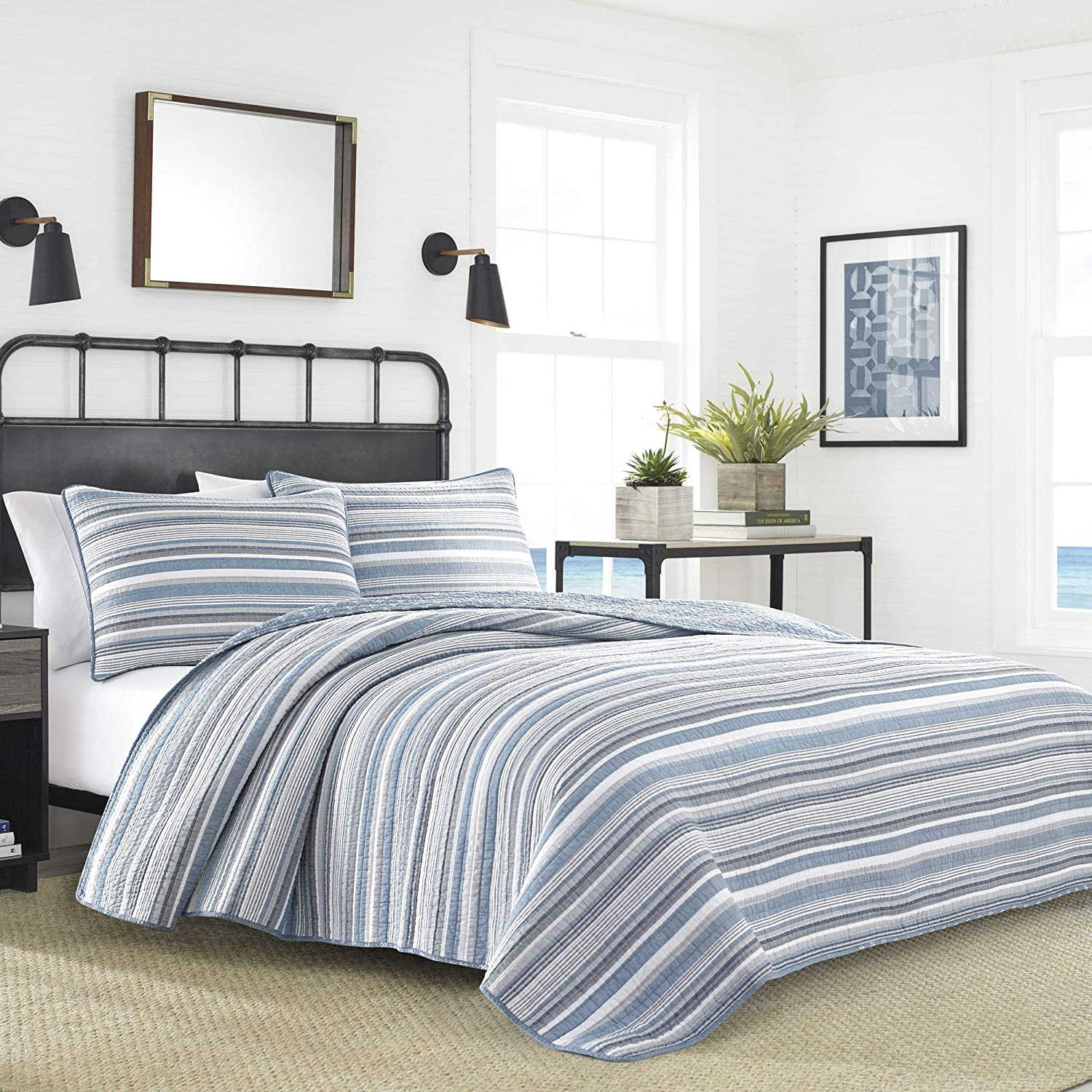 Nautica Jettison Quilt Set, Full/Queen, Grey