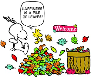 Eureka Snoopy Back to School Classroom Decorations, Happiness is A Pile of Leaves Bulletin Board Sets, 18''x0.1''x28'', 26 pc.