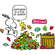 "Eureka Snoopy""Happiness is a Pile of Leaves"" Bulletin Board Classroom Decorations for Teachers, 26pcs"