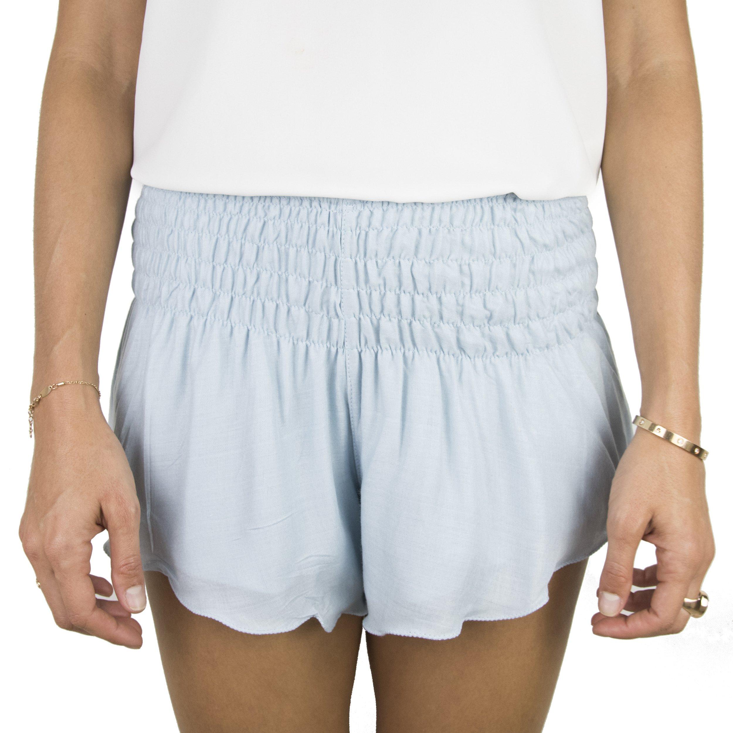 Natural Healing Co.. Beach Shorts for Women, Casual Summer Shorts, Wide Elastic Waist