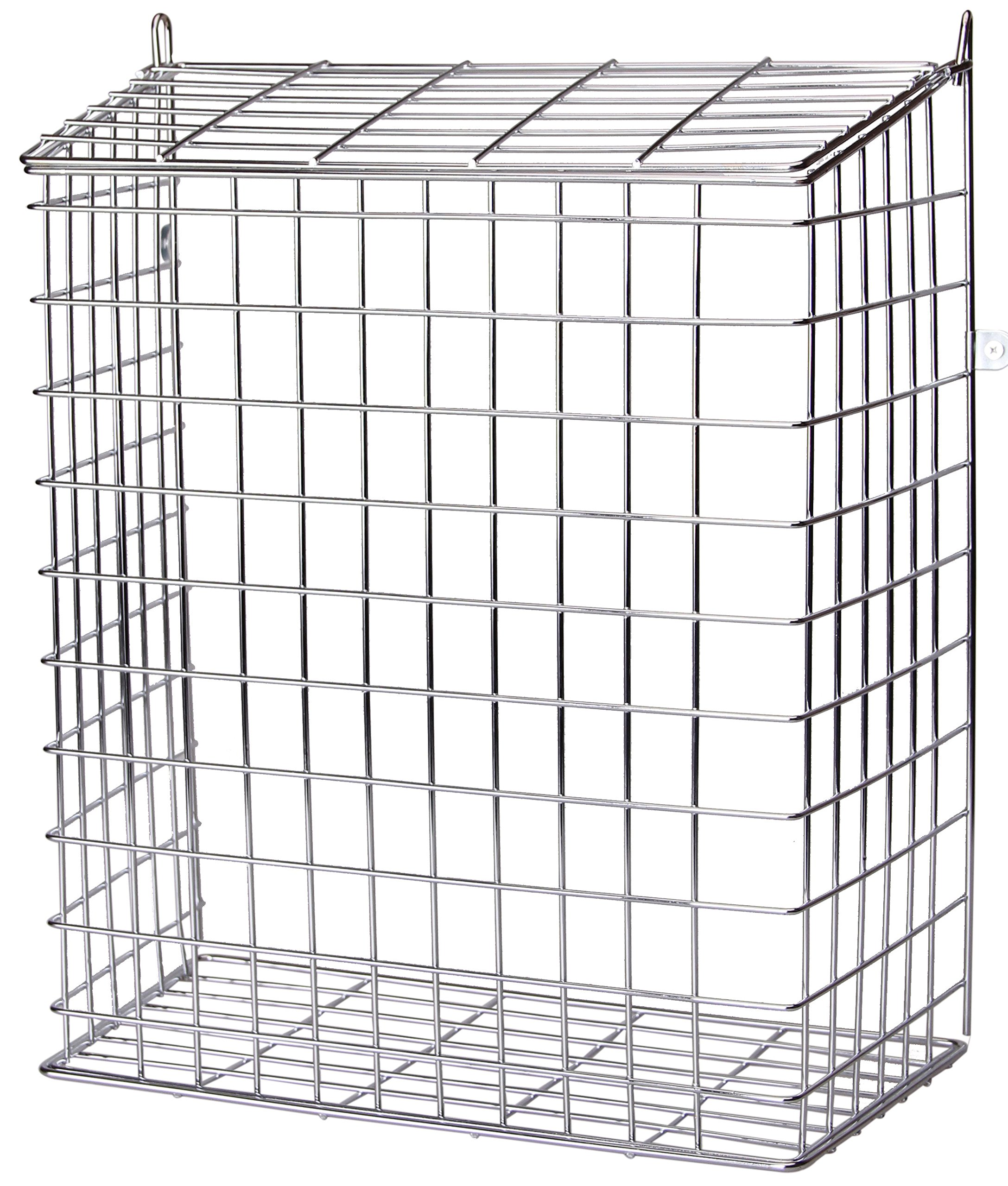 Buckingham 30050 Front Door Letter Cage, Guard, Basket, Mail Catcher, Post Box, Letter Box, Plated, Pre-Assembled, Chrome by Buckingham