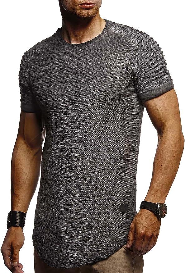 Leif Nelson Camiseta para Hombre con Cuello Redondo LN-6325