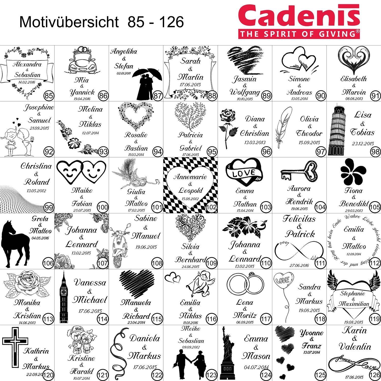 weitere Farben w/ählbar Cadenis Liebesschloss Aluminium pink mit individueller Laser-Gravur