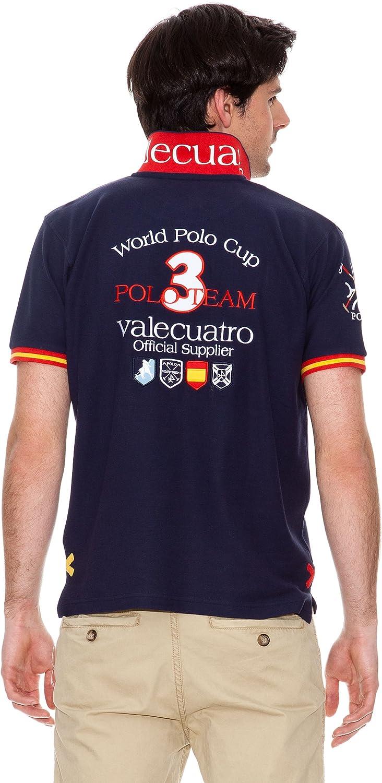 Valecuatro Polo Logo España Países Azul Marino L: Amazon.es: Ropa