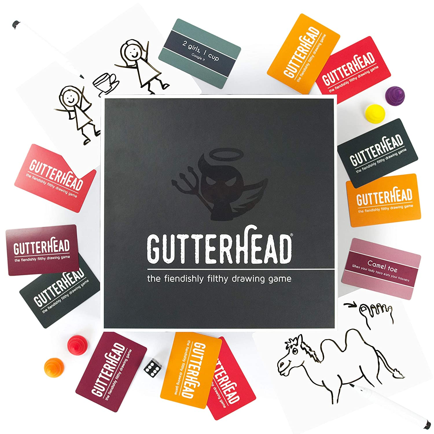 Gutterhead - The Fiendishly Filthy Drawing Game [Drinking & Party Game for Adults] Gutter Games 48447