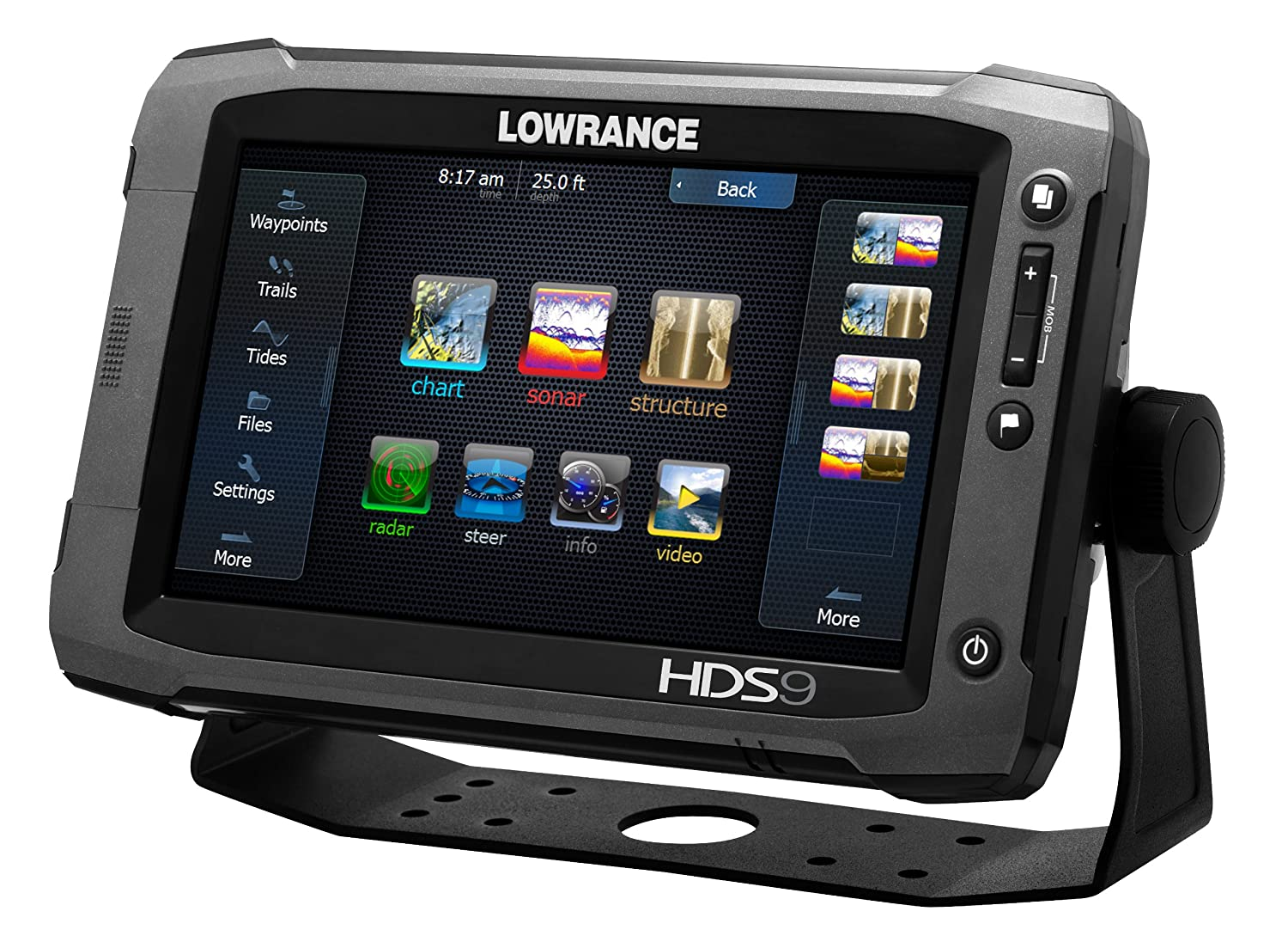 Lowrance 000 10770 001 Hds 9 Gen2 Touch With Inch Lcd Sonichub Wiring Diagram Touchscreen Multi Function Display Plotter And Built In Depth Sounder No Transducer