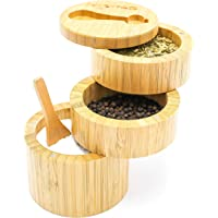 Wood Sugar Bowl Sugar Pot Container Salt Keeper Candy Jar Candy Box Lid Spoon FI