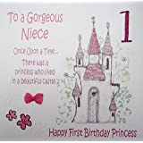 WHITE COTTON CARDS Code XGL2 N Large Princess Castle To A Gorgeous Niece 1
