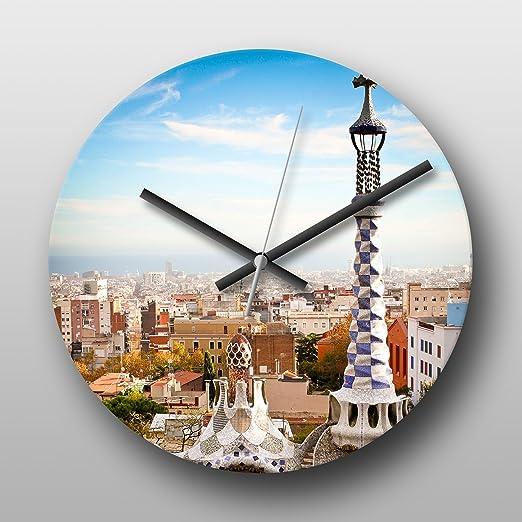 Reloj de pared Parc Guell Barcelona de la bandera de España ...