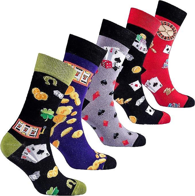 socks n socks-Hombre de 5 pares de lujo Divertido algod/ón Colorido Guay Vestido Calcetines Caja de regalo