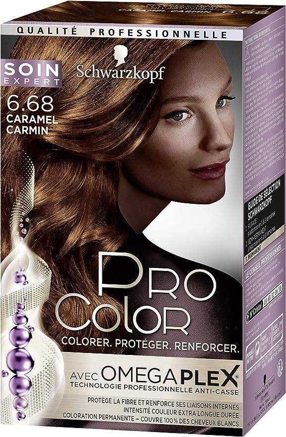Tinte permanente Schwarzkopf Pro Color, Caramelo carmín 6.68 ...