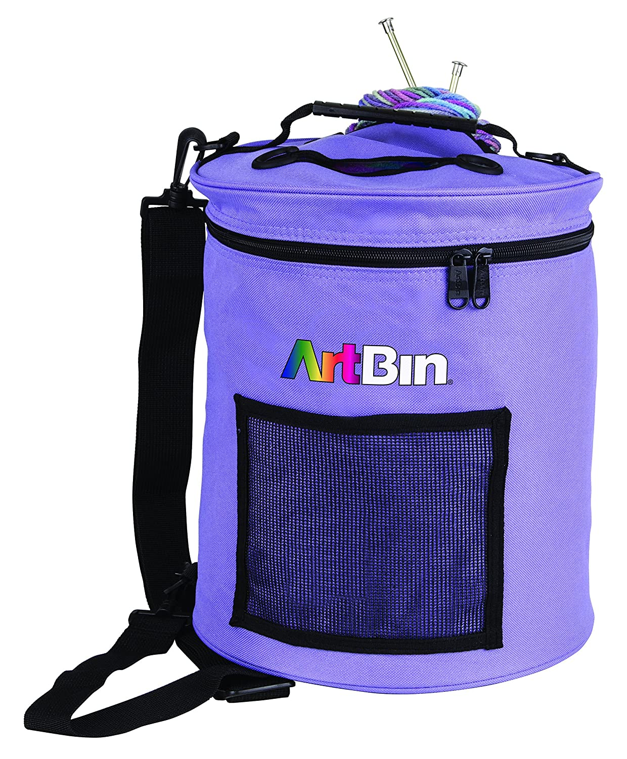 ArtBin Yarn Drum; Round Periwinkle Knitting and Crochet Tote Bag, 6807SA Flambeau