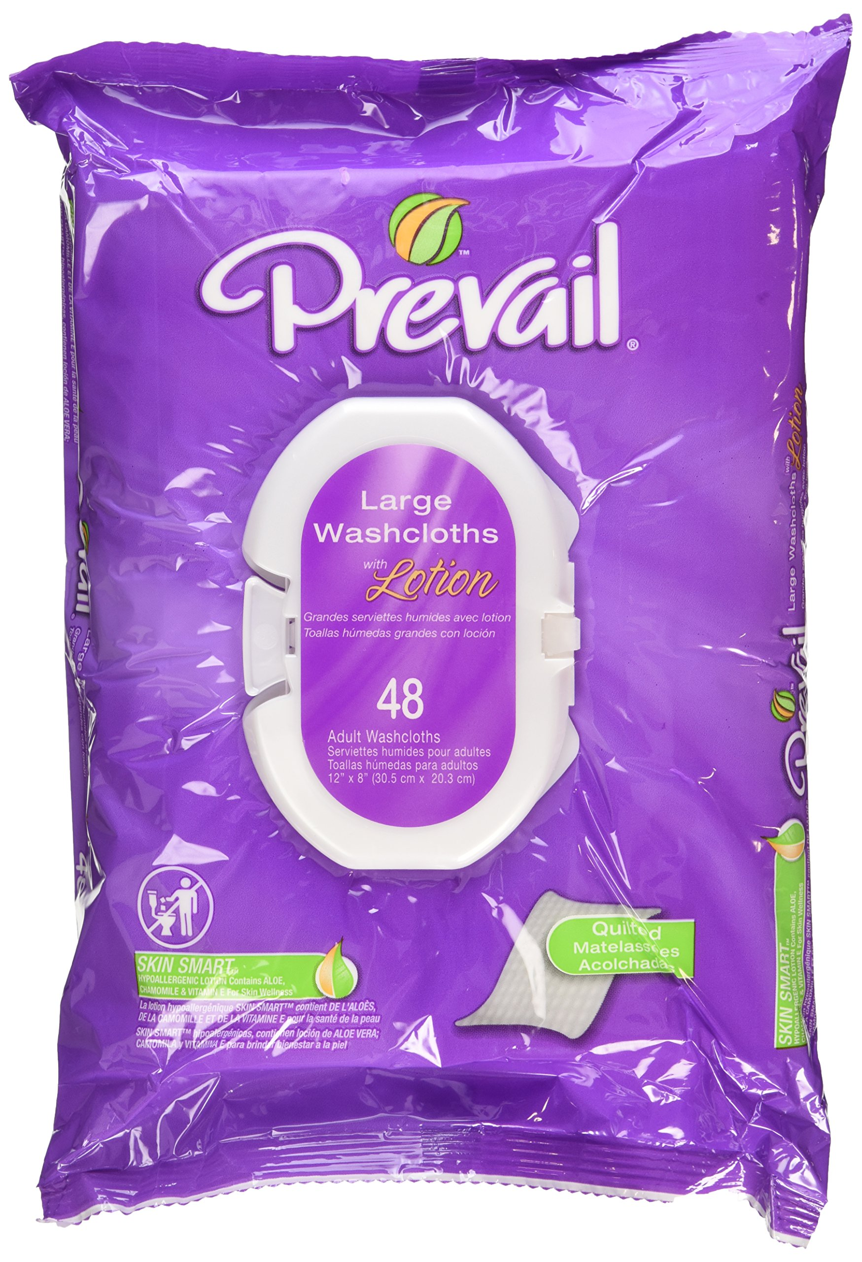 Amazon.com: Prevail Quilted Cotton Adult Disposable Large (12