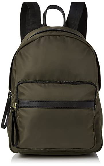 New Look Womens Uma Utility Nylon Backpack Green (Dark Khaki), One ... b30b531c3f