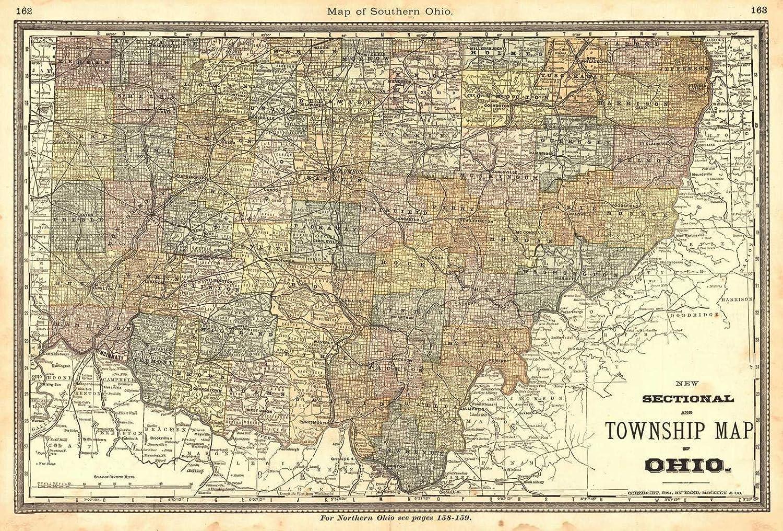 Amazon.com: Historic Map | 1883 Map of Southern Ohio ...