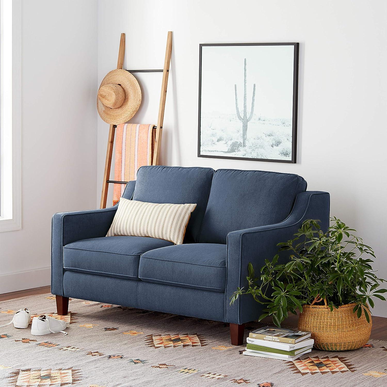 Amazon Brand – Stone & Beam Blaine Modern Loveseat Sofa, 55.9