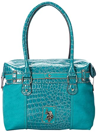 8b3025cd60e U.S. Polo Assn. Radiant Satchel Top Handle Bag, Turquoise, One Size ...