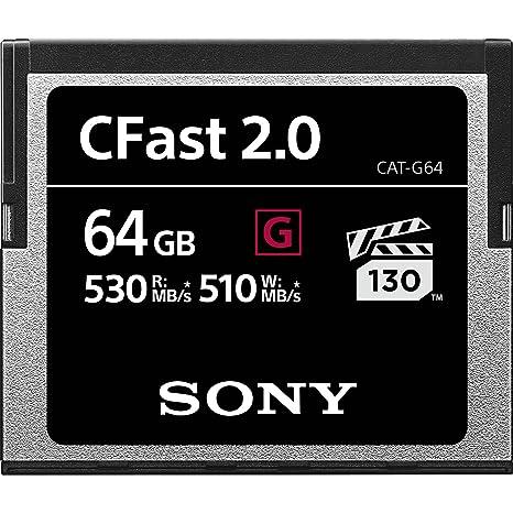 Sony 64 GB CFast 2.0 Profesional Flash Tarjeta de Memoria ...