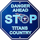 """NFL Tennessee Titans Stop Sign, 12"""" x 12"""