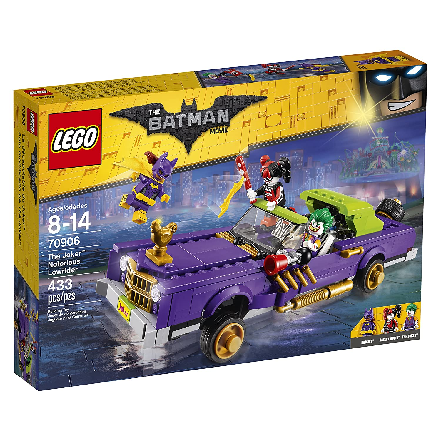 LEGO BATMAN MOVIE The Joker Notorious Lowrider 70906 Building Kit (433 Piece)