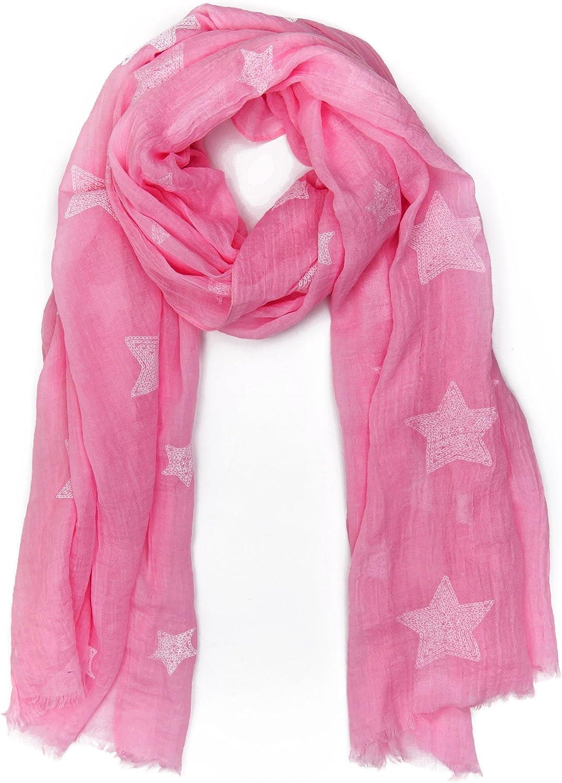 idea regalo per sciarpa moda sciarpa classica| stola MANUMAR Sciarpa donna sciarpa da collo in diversi colori con motivo stellae come accessorio perfetto per lautunno inverno