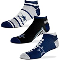 For Bare Feet - NFL Show Me The Money! - No Show Ankle Socks - 3 Pack