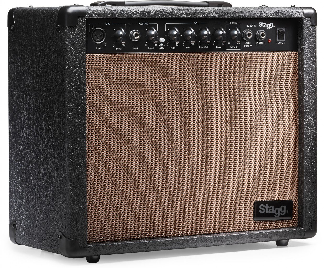 Stagg 40 AA R USA 40 Watt RMS Acoustic Guitar Amplifier with Spring Reverb by Stagg