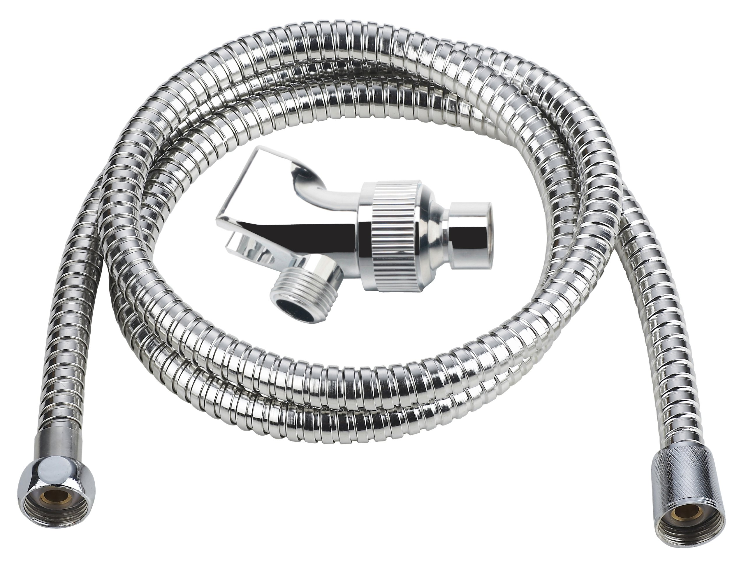 Hand Held Shower Hose Kit Stainless Steel with ABS Holder with Brass Joint: SHK