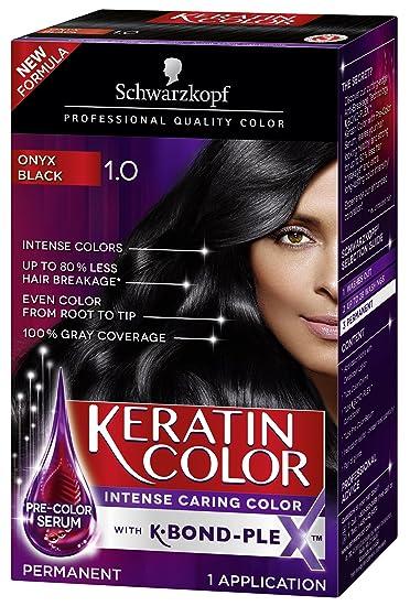 Amazon.com: Schwarzkopf Keratin Color Permanent Hair Color Cream ...