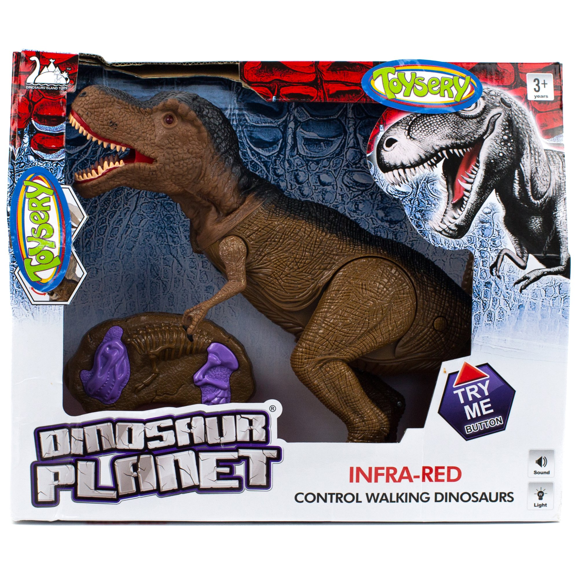 Toysery Jurassic World Dinosaur Toys with Light Up Eyes and Roaring Sound Walking Dinosaur Toy Set for 3-12 Year Boys and Girls - Perfect Remote Control Dinosaur Gifts for Birthdays by Toysery (Image #4)