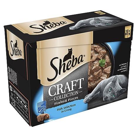 Sheba Craft - Bolsas para Gatos (12 x 85 g, 4 Unidades),