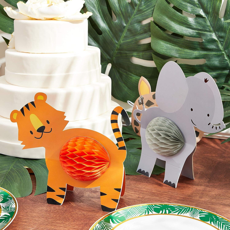 Jungle Safari Animal Honeycomb centrotavola per decorazioni da tavola 12 pezzi