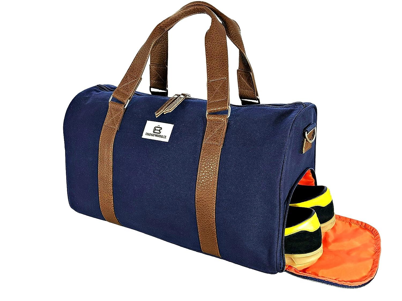 Chad Hayward & Co Adam Sporttasche Reisetasche Gymtasche mit Schuhfach - Qualität Canvas Duffletasche Holdall - 34L CH-0003-NA
